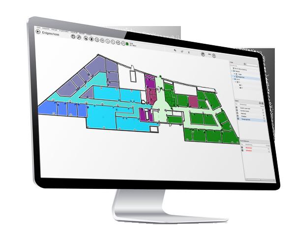Türen und Räume erkennen mit .secure.MAPS