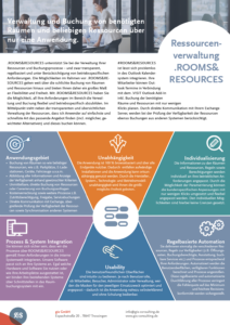 Onepager Rooms & Resources